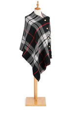 Black/Red Reversible Poncho