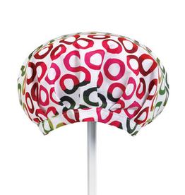 Demdaco Pink/Green Circles Shower cap