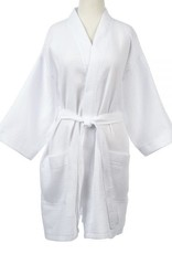 Short Waffle Weave Robe 3 Colors