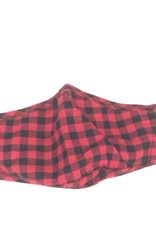 Black/Red Plaid Face Mask