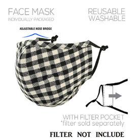 Black/White Plaid Mask