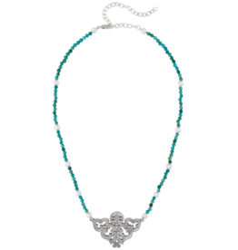 Mignon Faget Mignon Faget Scrollwork Turquoise Necklace