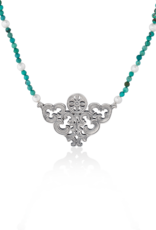 Mignon Faget Mignon Faget Scrollwork Turquoise Necklace