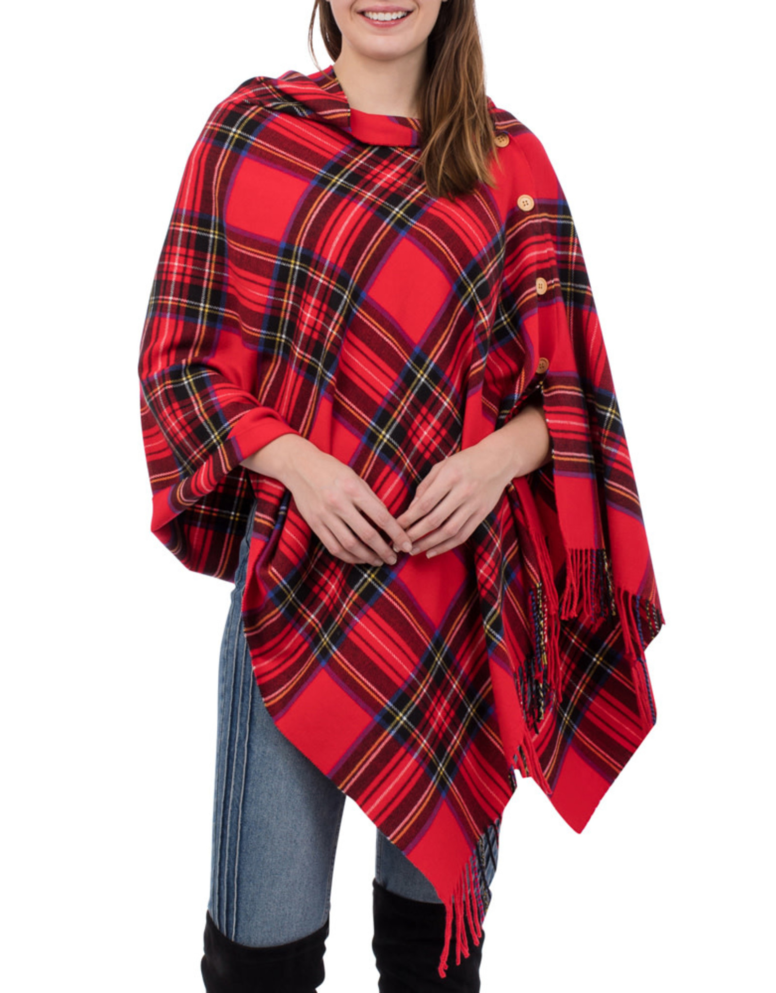 Top It Off 3-in-1 Red Plaid Wrap