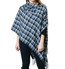 3-in-1 Royal Blue Plaid Wrap
