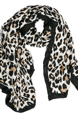 Leopard Scarf With Black Trim 2 Colors