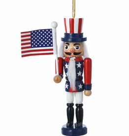 American Flag Nutcracker Ornament