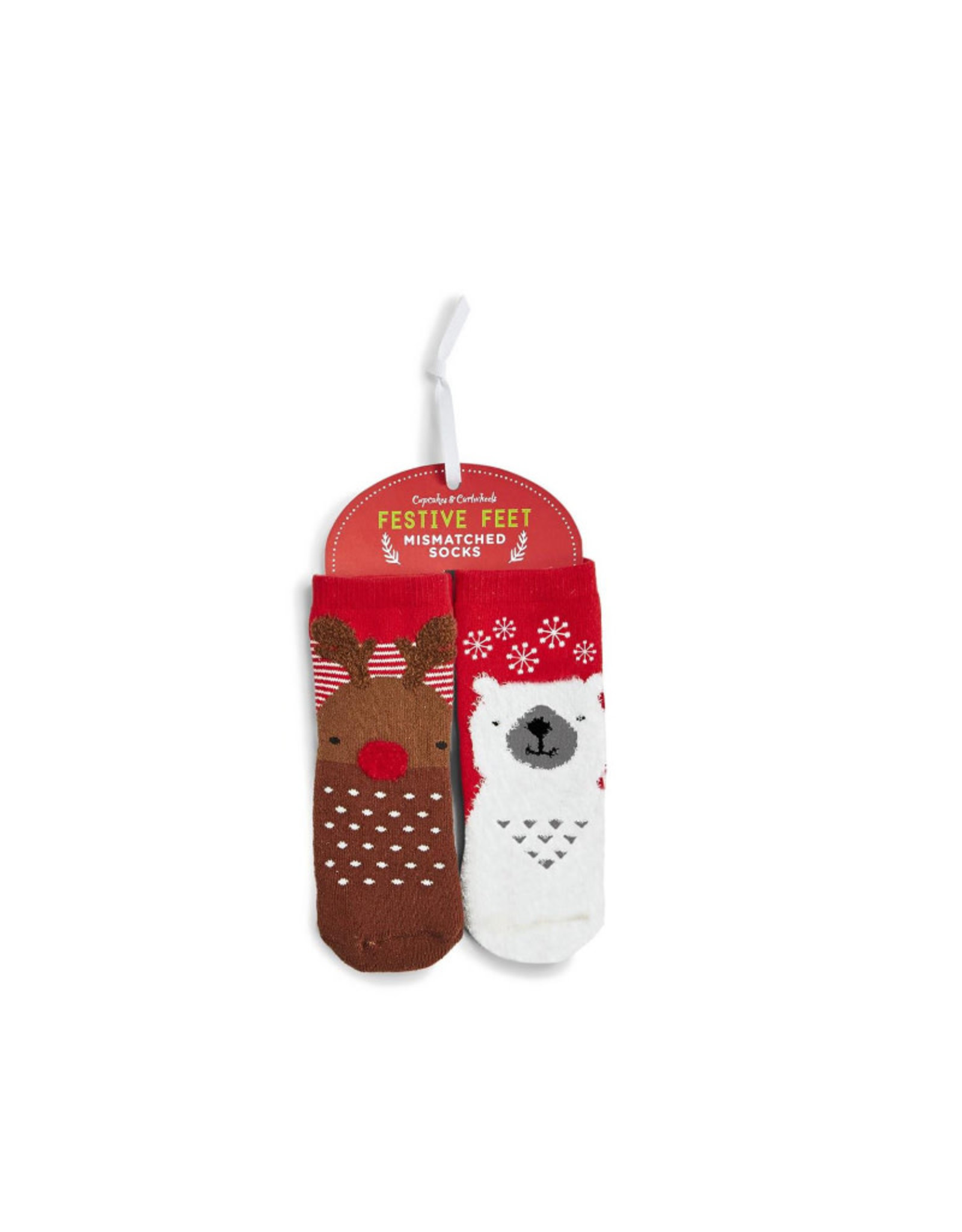 Kid's Mismatched Reindeer/Polar Bear Socks