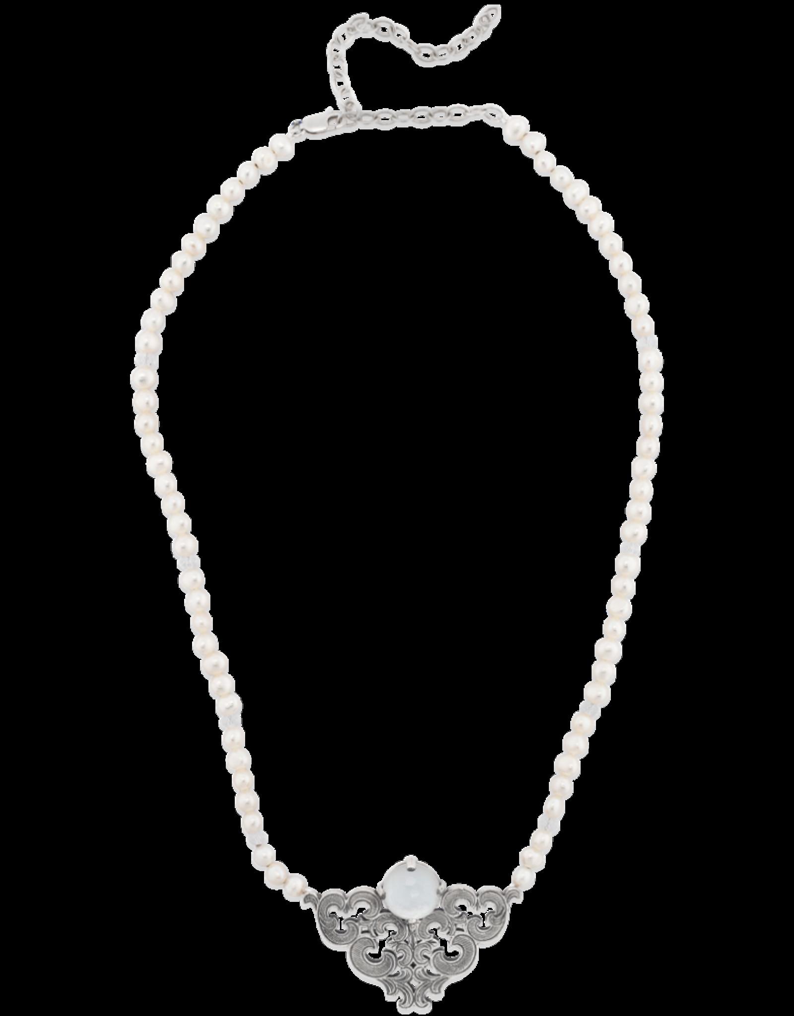 Mignon Faget Mignon Faget Scrollwork Doublet MOP Necklace