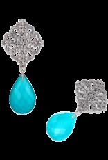 Mignon Faget Mignon Fgaet Revival Triplet Turquoise Earrings