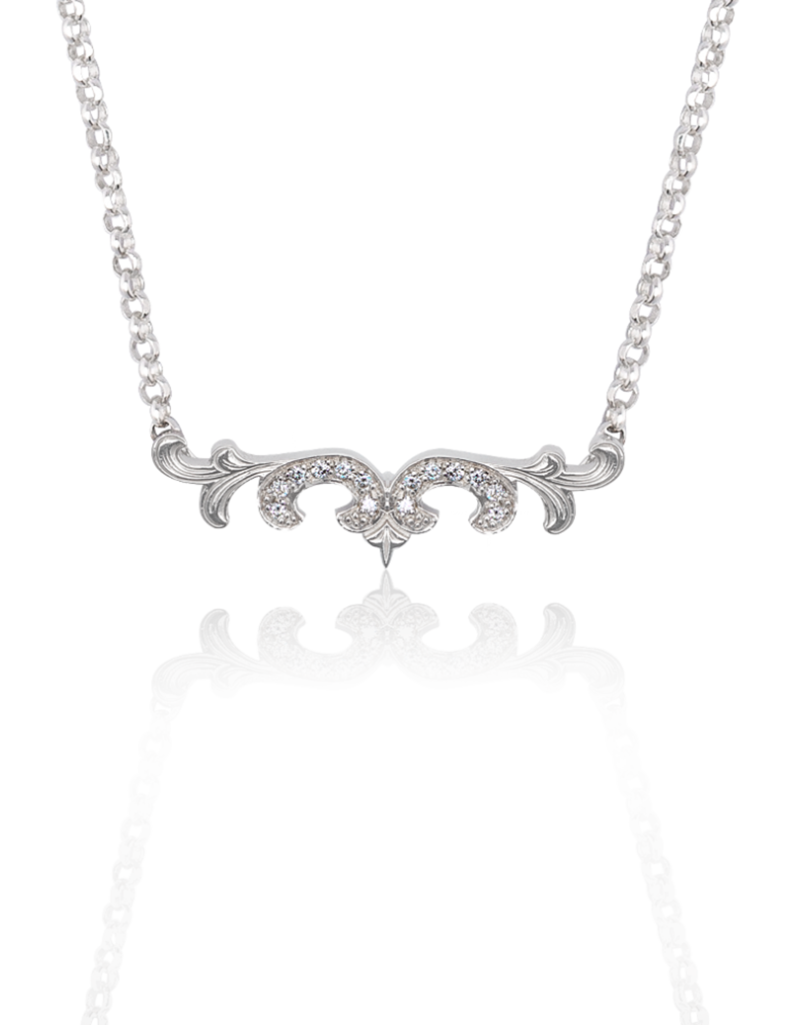 Mignon Faget Mignon Faget Scroll Diamond Necklace 16-20""