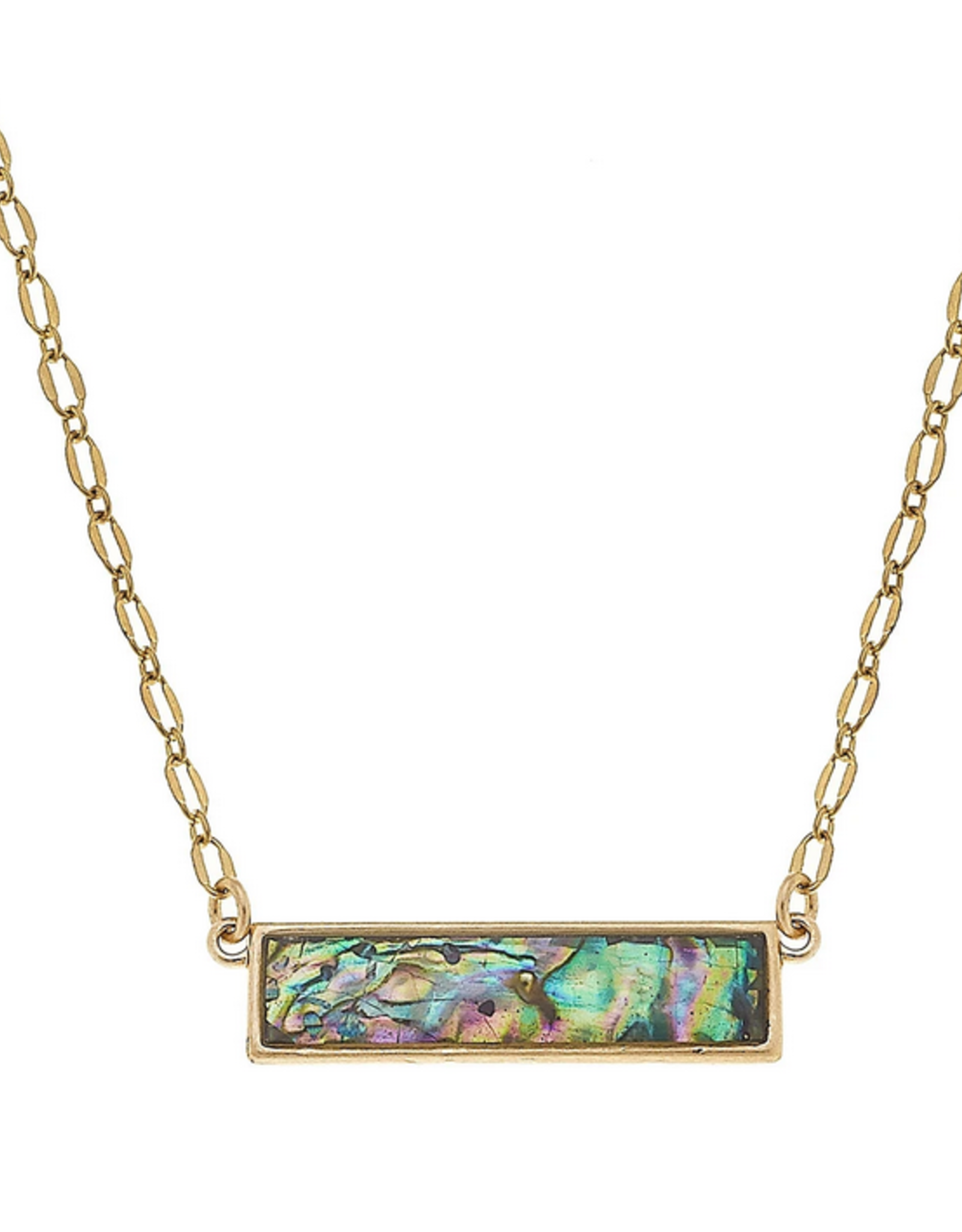 Abalone Bar Necklace