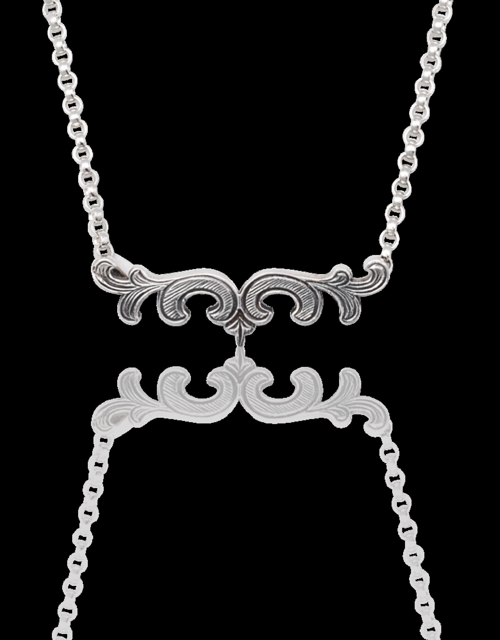 Mignon Faget Mignon Faget Scroll Bar Necklace