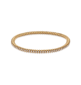 Mignon Faget Mignon Faget Halo Crystal Bangle Gold or Silver