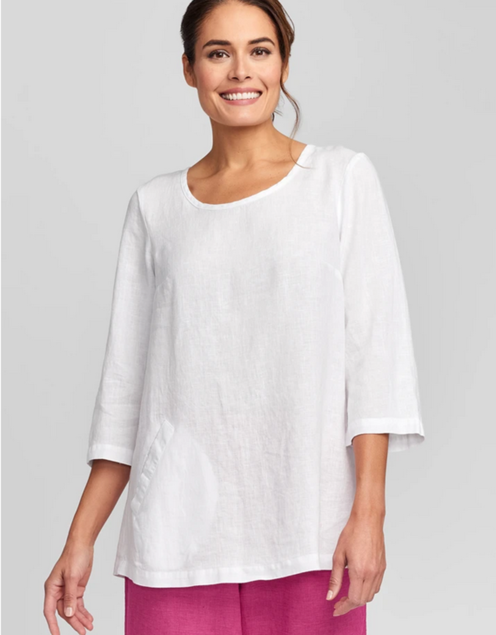 Flax Flax Back Up Linen Tunic 4 Colors