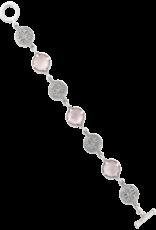 Mignon Faget Mignon Faget Rosette Doublet Pink MOP Linking Bracelet