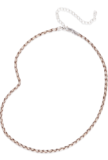 """Mignon Faget Mignon Faget Leather Braided Cord Ivory 20"""""""