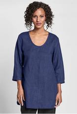Flax Flax Soft Linen Tunic Sapphire
