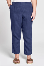 Flax Flax Pocketed Ankle Pant Sapphire
