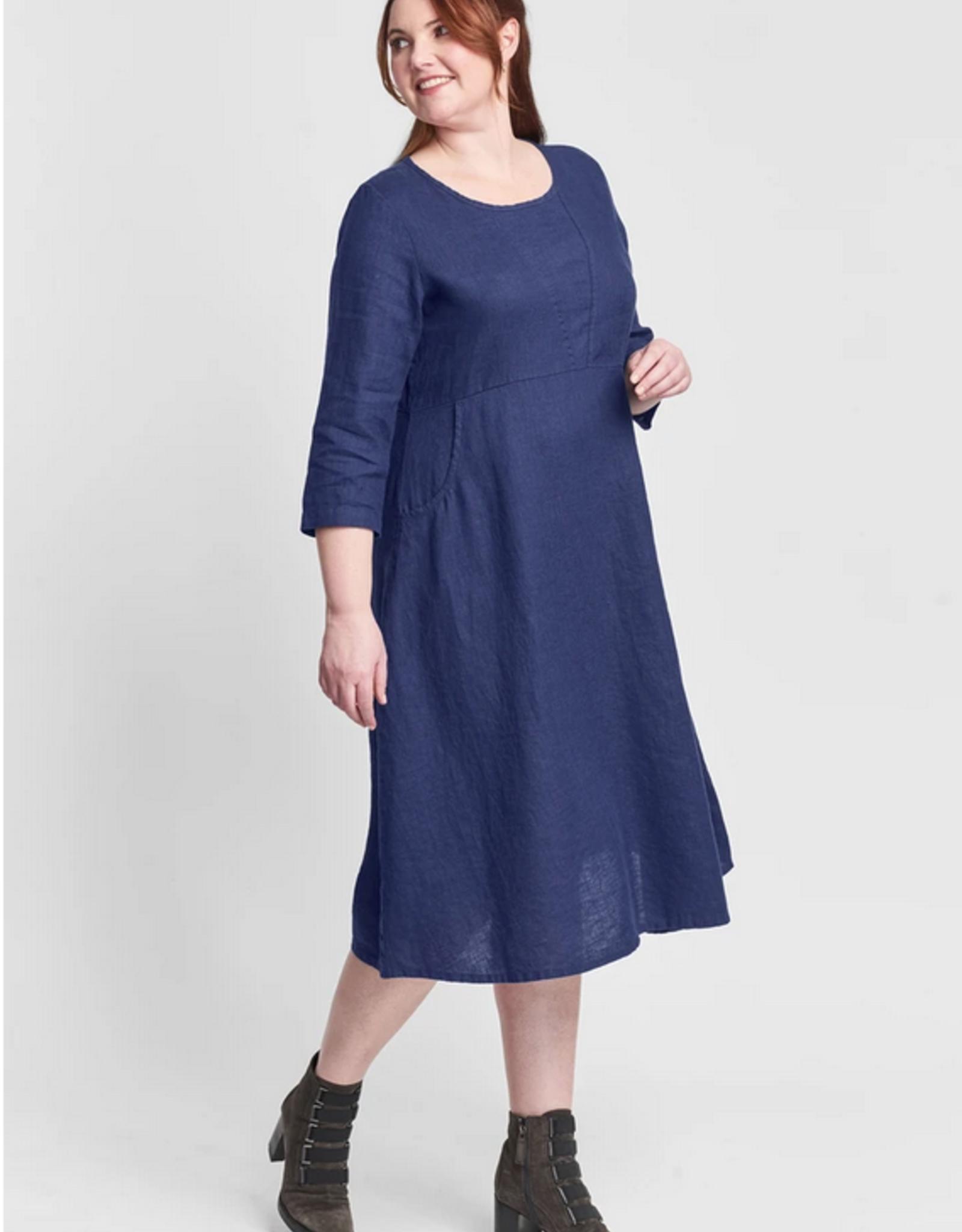 Flax Flax Dashing Dress Sapphire