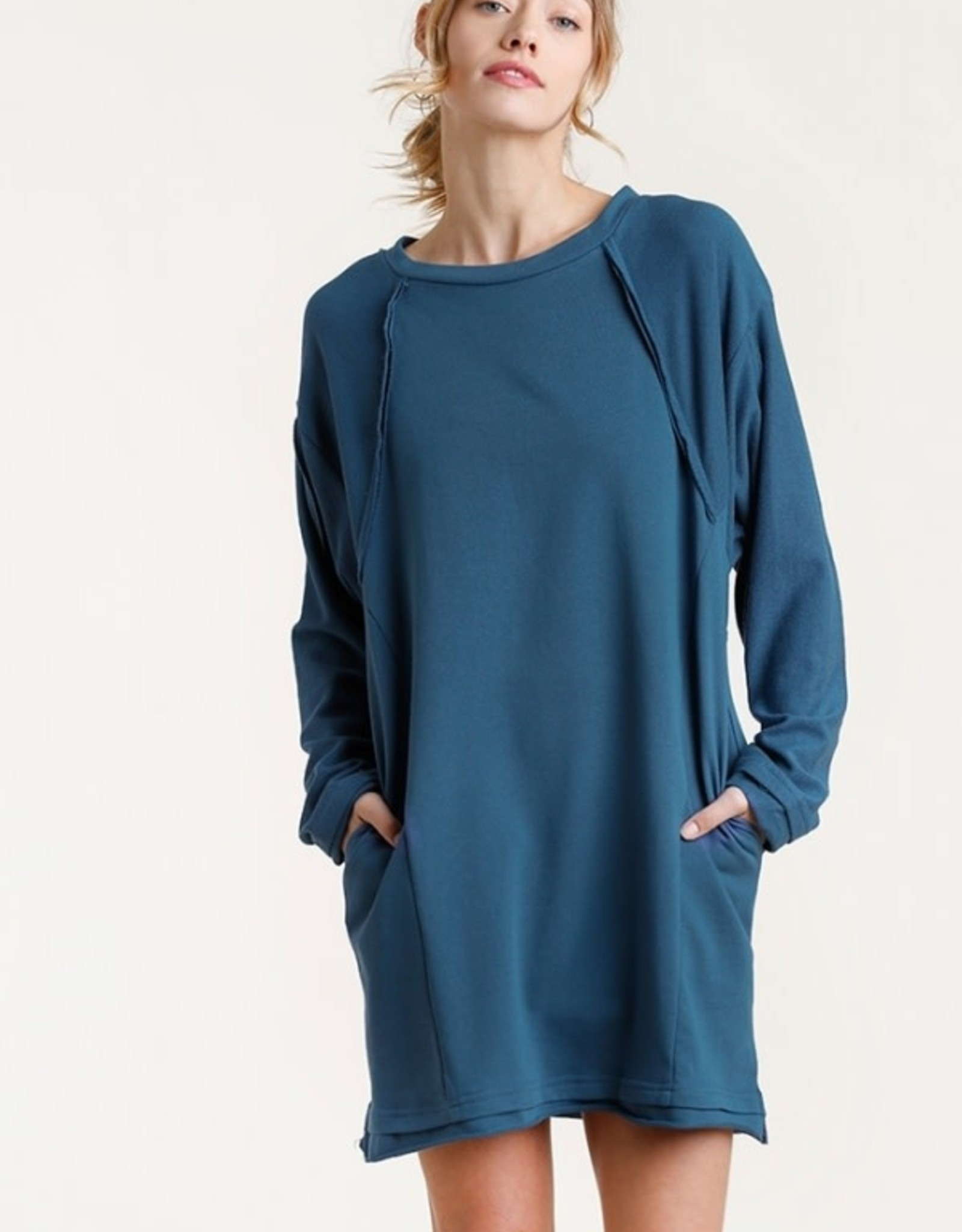 Umgee French Terry Dress