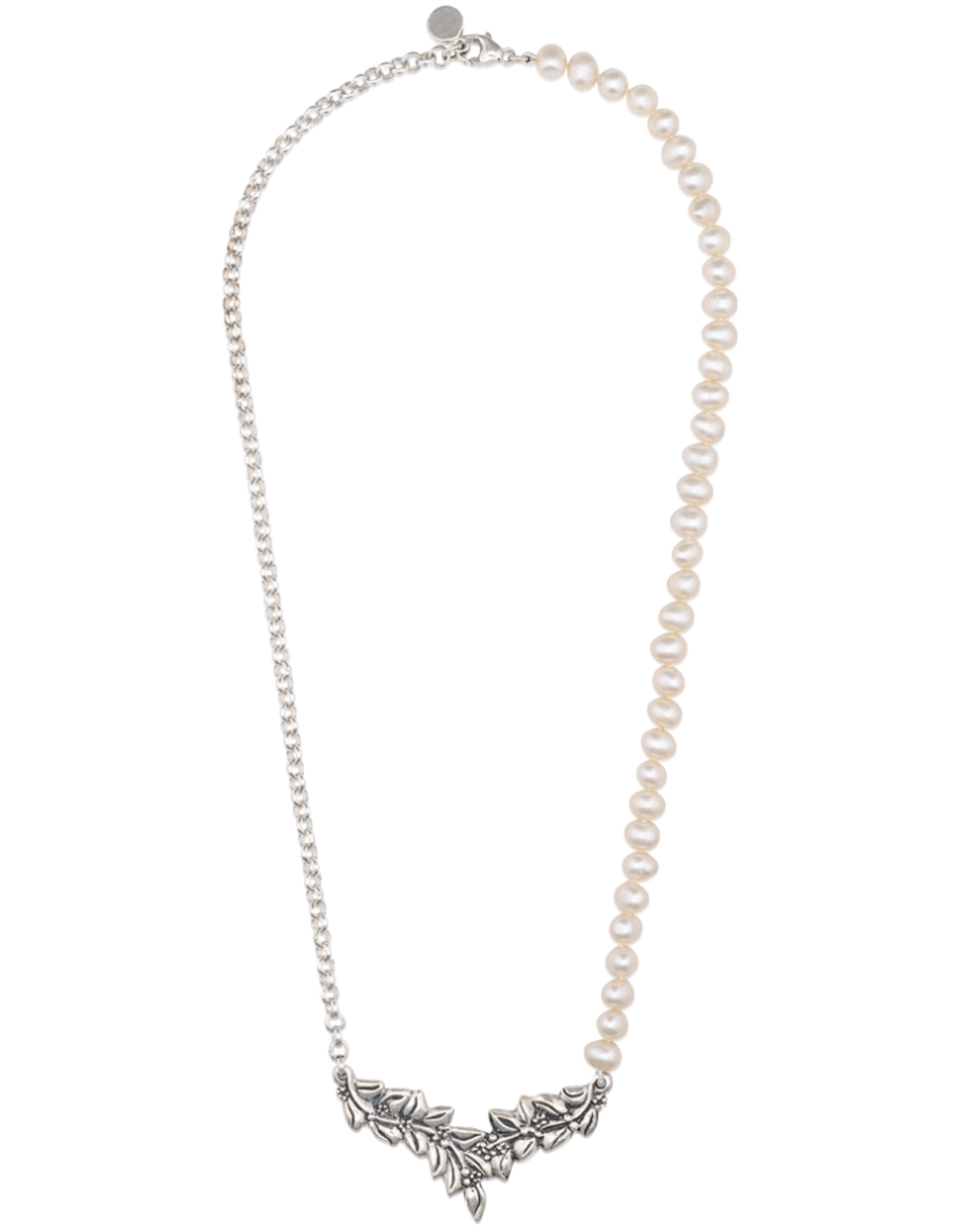 Mignon Faget Mignon Faget Jasmine FWP and Chain Necklace