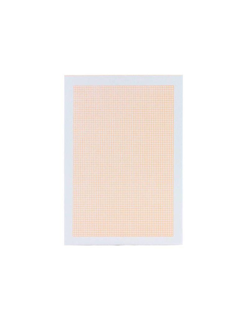 Le Typographe Orange Blank Note Bloc