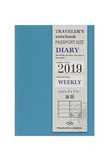 Traveler's Company Passport Size Refill 2019 Weekly
