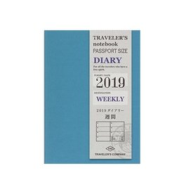 Traveler's Company Passport Size Refill 2019 Weekly