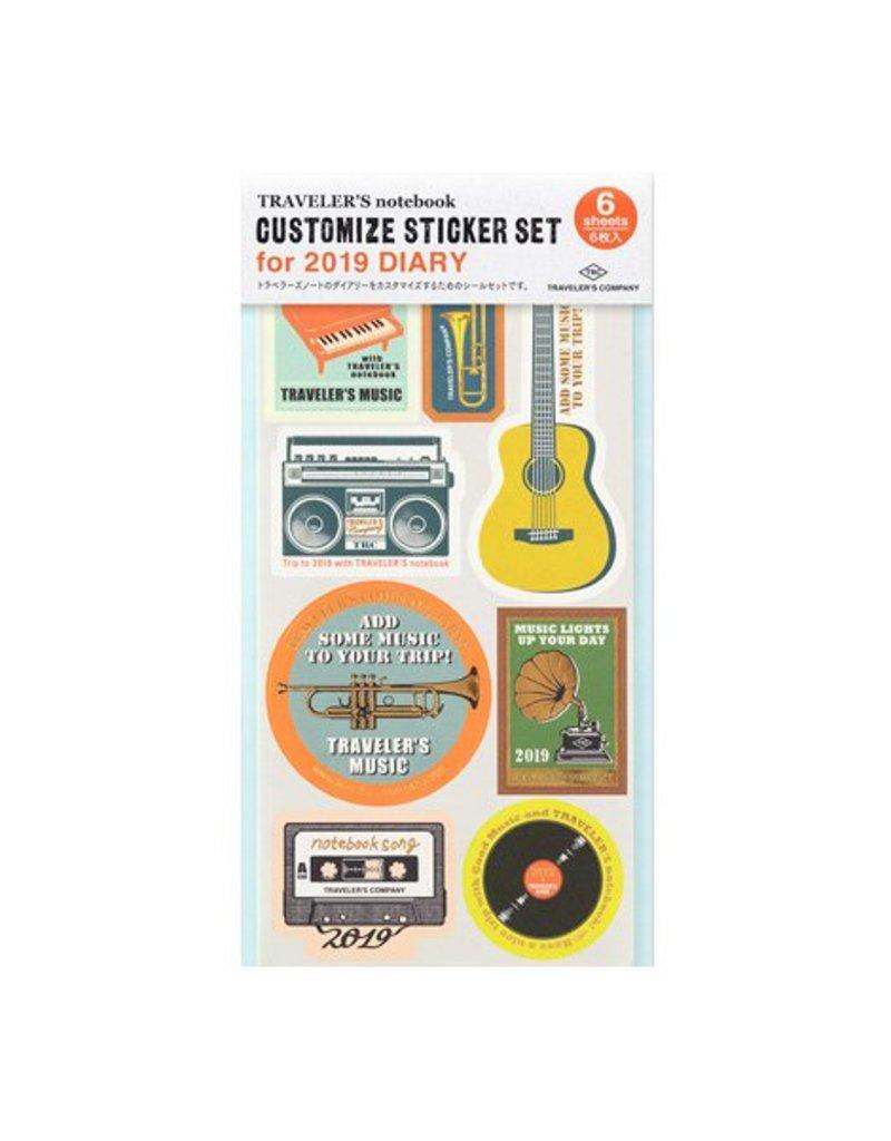 Traveler's Company Refill Customize Sticker 2019 Diary