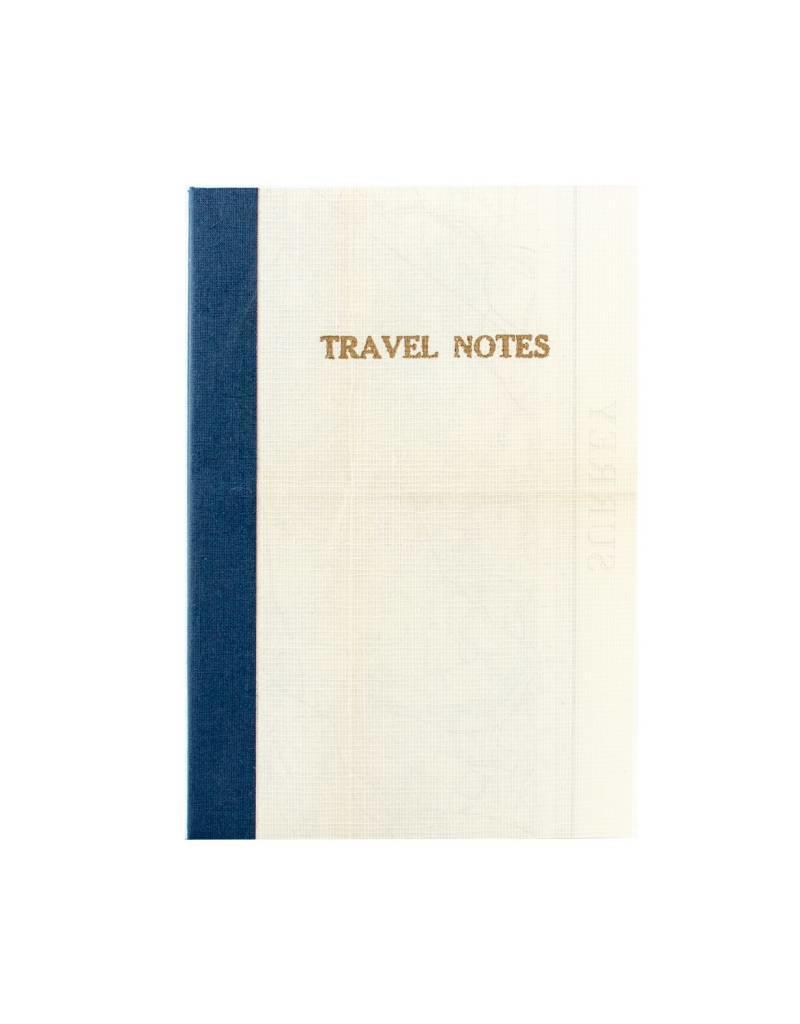 Sukie Linen Map Travel Notes Blue Binding