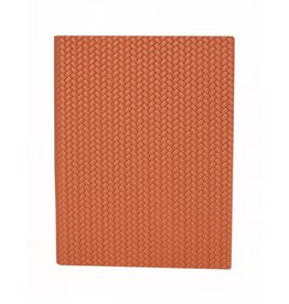 "Pinetti Pinetti ""Firenze"" Leather-Bound Journal in Orange 12x16.5 cm"