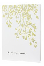 Oblation Papers & Press letterpressed floral illustration thank you card