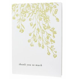 Oblation Papers & Press letterpressed florals thank you card