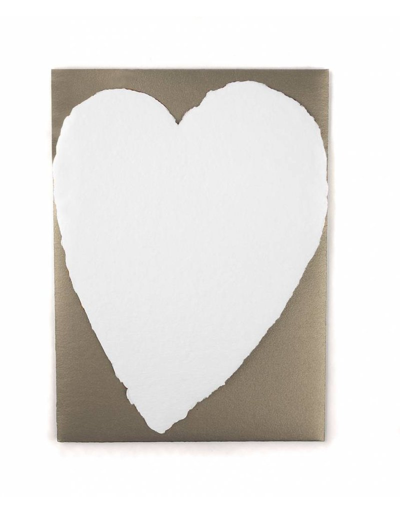 Oblation Papers & Press Small Handmade Paper Heart White