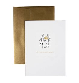 """Oblation Papers & Press """"thank you so much"""" llama card"""