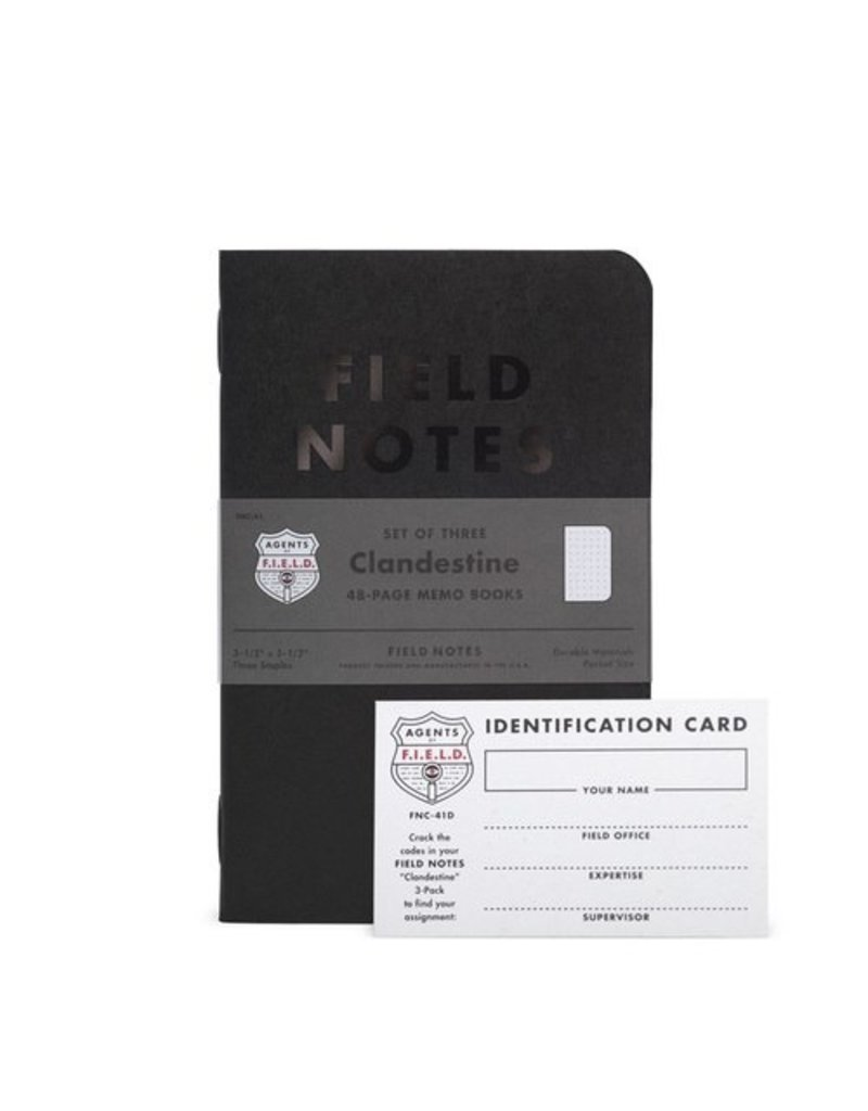 Field Notes Limited Edition Clandestine Field Notes (3 pack)