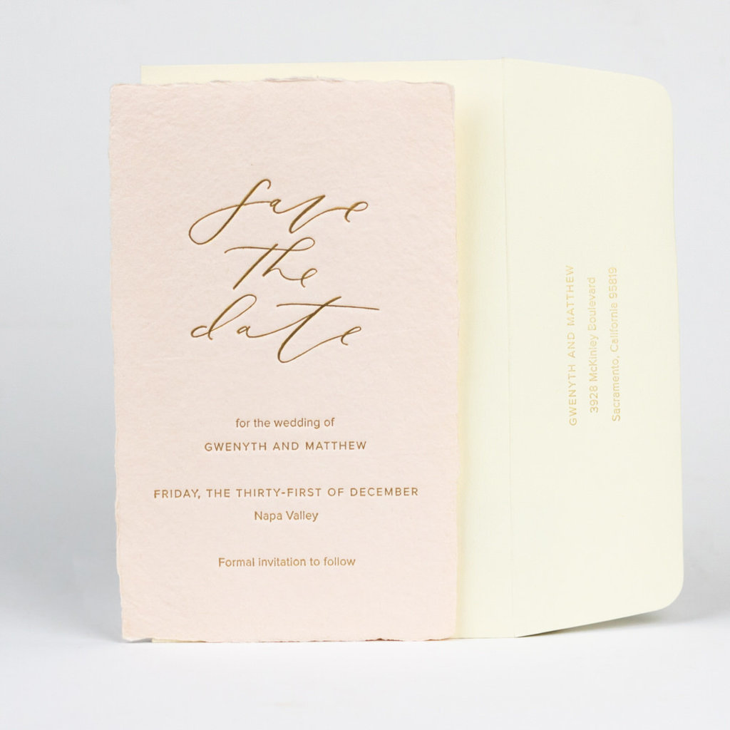 Oblation Papers & Press wedding suite sample