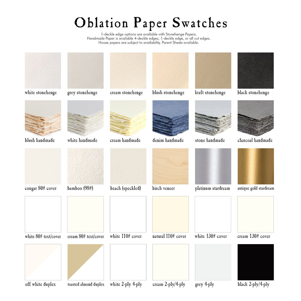 Oblation Paper Swatches