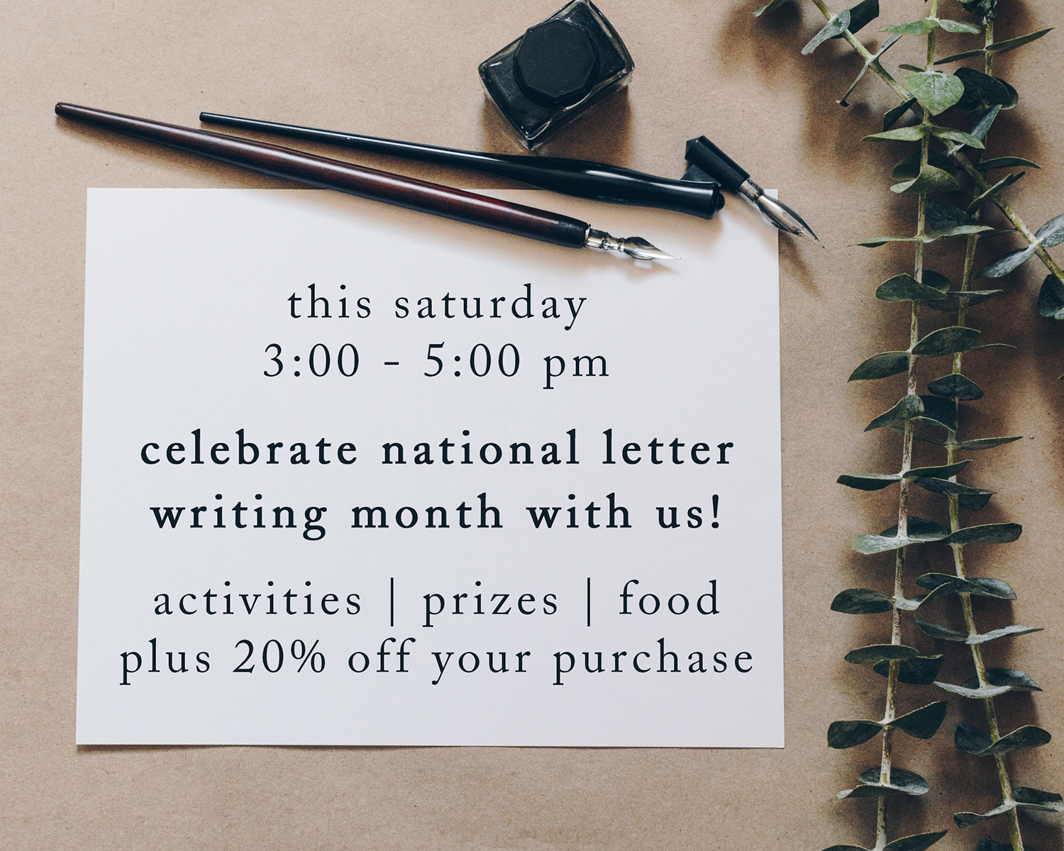 celebrate national letter writing month!