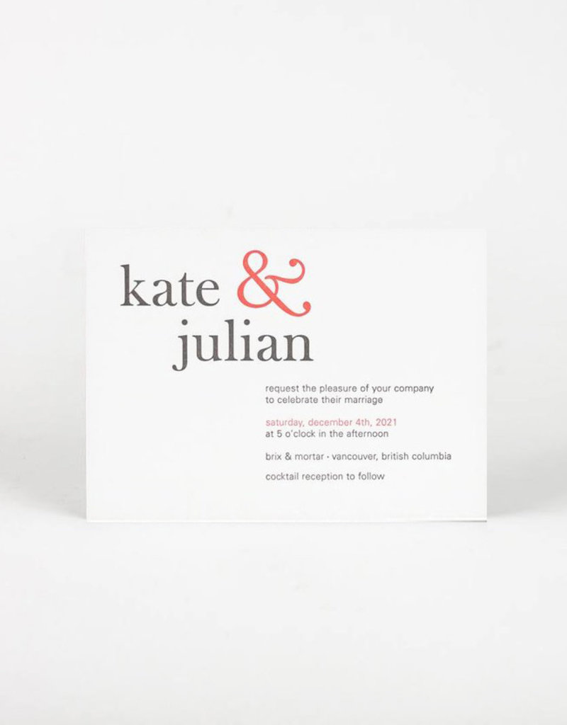 Oblation Papers & Press kate invitation