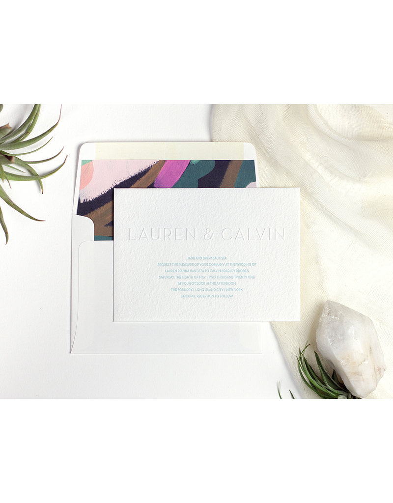 Oblation Papers & Press lauren invitation