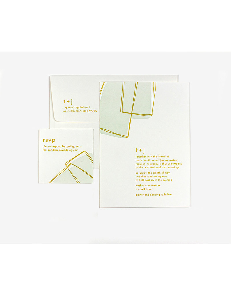 Oblation Papers & Press tessa invitation
