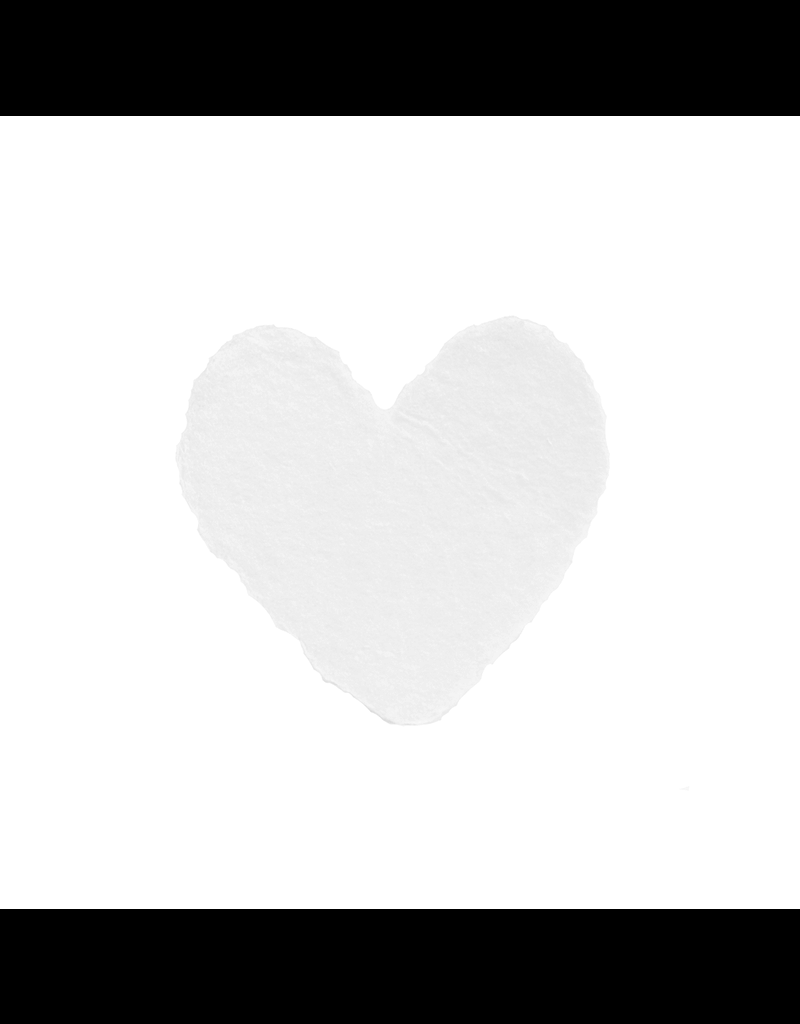 Oblation Papers & Press Handmade Petite Heart White Box of 6