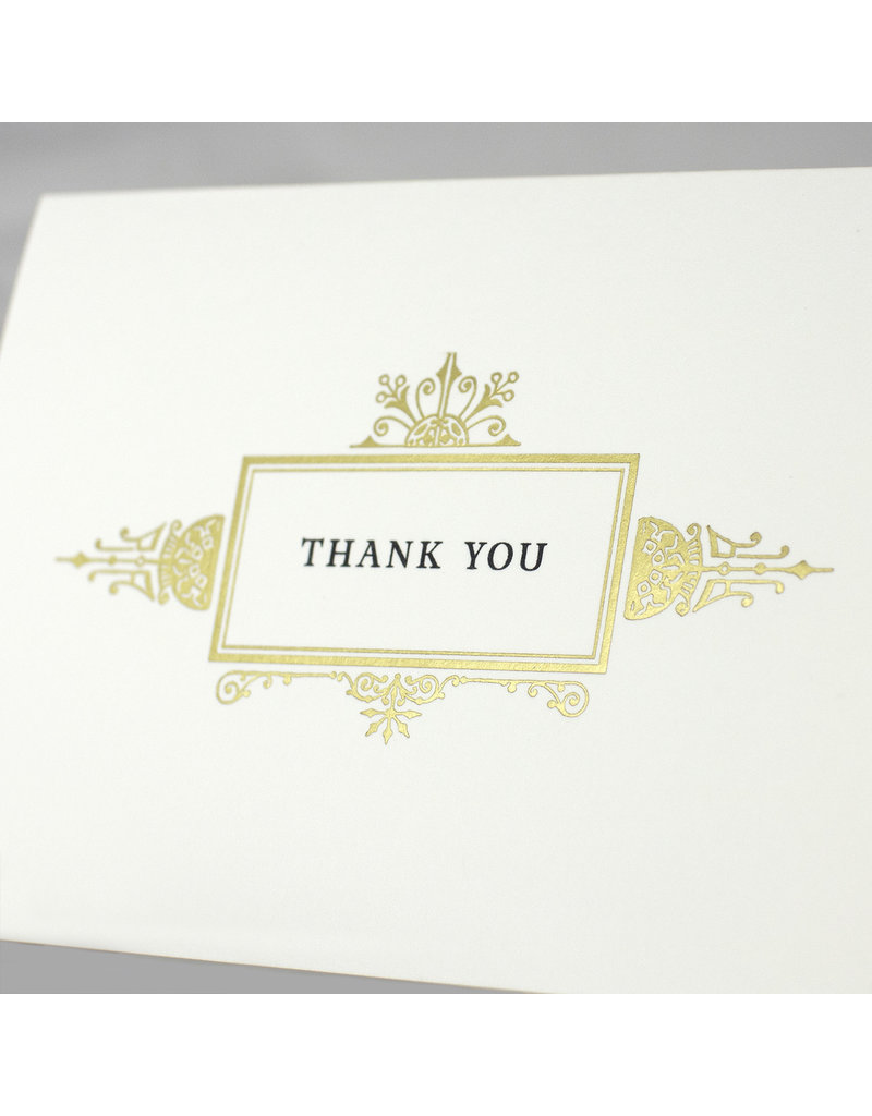 Oblation Papers & Press Thank you ornate gold frame card