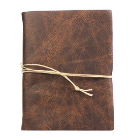 Oblation Papers & Press Medium Hand-bound Leather Journal - Walnut