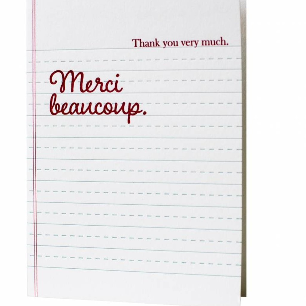Oblation Papers & Press Thank You Very Much Merci Beaucoup