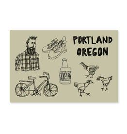 HWG Portland Hipster Postcard