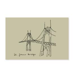 HWG Portland St. Johns Bridge Postcard