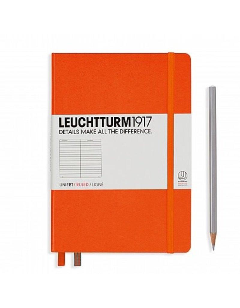 Leuchtturm A5 Orange Hardcover Notebook Ruled